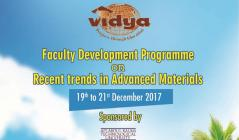 FDP on ''Recent trends in Advanced Materials''