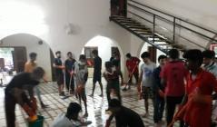 Cleaning work at Velyannur Panchayath, Alapuzha