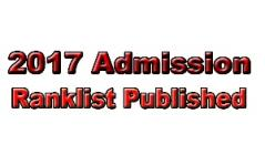 2017 Admission-Vidya Rank list for admission to Management seats published