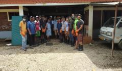 Cleaning work at Snehatheeram Orphanage , Kidangara
